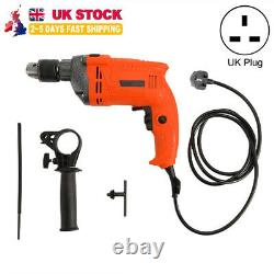 2000w Heavy Duty 13mm Variable Speed Corded Electric Impact Hammer Drill 230v Uk