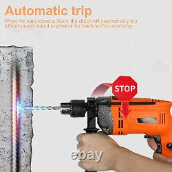 2000w Variable Speed 13mm Corded Electric Impact Hammer Drill Screwdriver Uk