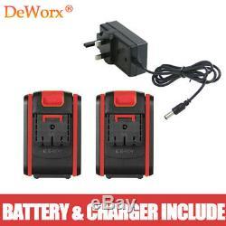 21V Cordless Combi Drill Dual Speed Li-Ion 2x Batteries Fast Charge Screwdriver