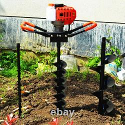 71CC/52cc Petrol Earth Auger Ground Drill Fence Post Hole Digger Borer+Drill Bit