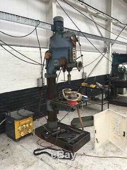 Ajax Heavy Duty Pillar Drill 4 Morse Taper, 3 Ph, 8 Speeds