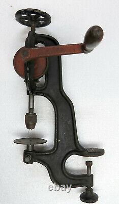 Antique Goodell Pratt Toolsmiths Heavy Duty Hand Crank Drill Press