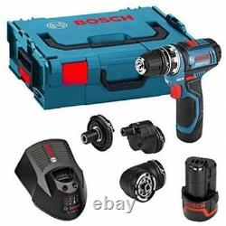 Bosch 12V Flexiclick 4-In-1 Drill Batteries, Compact Charger & Mobility Driver