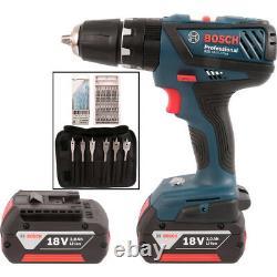 Bosch GSB182LI plus 18v combi cordless drill 2x3ah li-on batts box GSB-18-2-LI