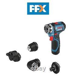 Bosch GSR 12 V-15 FC 12v 2x2.0ah Li-ion FlexiClick Drill Driver and L-Boxx