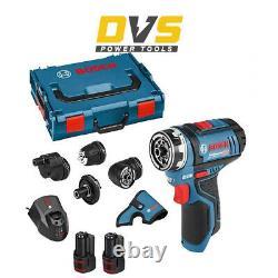 Bosch GSR 12V-15 FC 12V FlexiClick Drill Driver with GFA 12-B Chuck Set with Box