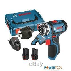 Bosch GSR 12V-15 FC 12v FlexiClick Drill Driver with GFA 12-B Chuck & 2x 2.0Ah B