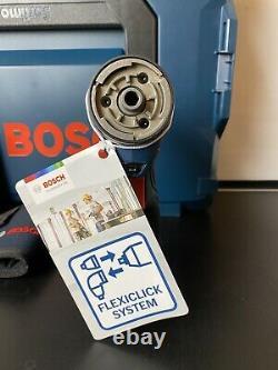 Bosch GSR 12V-15 FC 12v Flexiclick System Drill Driver + 4 Chucks + Lboxx