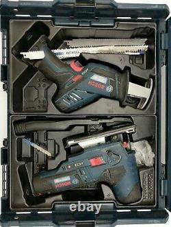Bosch GSR 12V LBox Bundle SawithJigsawithDrill/AngleGrinder/Skillsaw 4x Battery's