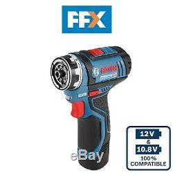 Bosch GSR12V15FC 12v 2x2.0Ah Flexiclick Cordless Drill Driver 06019F6071