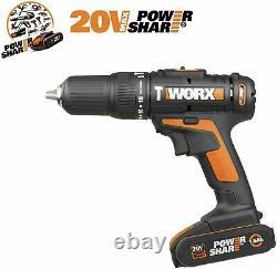 Cordless Hammer Drill with 50 pieces WORX 18v 20v set