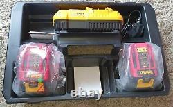 DEWALT 54v XR FlexVolt 3 Mode Cordless Hammer Drill, 2x Batteries charger