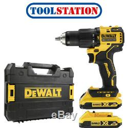 DeWalt DCD709D2T 18V XR Brushless Compact Combi Drill Driver 2 x 2.0Ah