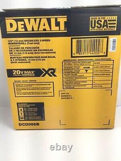 DeWalt DCD996B 20V Max XR Brushless Cordless 1/2 Hammer Drill 20v 5ah Battery +