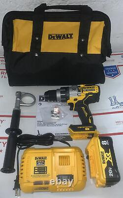 DeWalt DCD998 20V MAX XR Li-Ion 1/2 in. Hammer Drill Driver Kit Power Detect 8.0