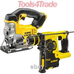 DeWalt DCH253N 18V Li-Ion SDS Plus Hammer Drill + DCS331N 18V Jigsaw Body Only