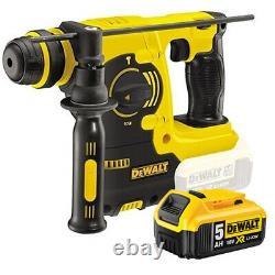 DeWalt DCH253N 18V XR SDS Plus Rotary Hammer Drill with 1 x 5.0Ah DCB184 Battery