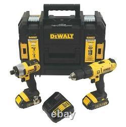 DeWalt XR 18V 1.5Ah Li-ion Cordless Combi Drill & Impact Driver Set Twin Pack