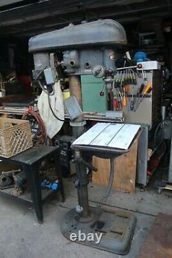 Delta 17 Drill Press Table Bed Riser Gear Mechanism, Rail, Column 3 1/2 Dia