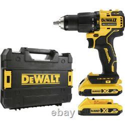 Dewalt Dcd709d2t 18v Xr Brushless Combi Drill 2 X 2.0ah Batteries Charger Case