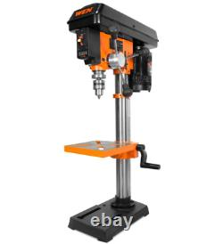 Drill Press with Laser Guide Adjustable Table Top Heavy Duty Variable Speed Tool