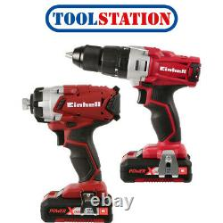 Einhell PXC 18V Cordless Combi Drill & Impact Driver Twin Pack 2 x 2.0Ah