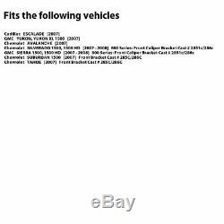 FULL KITBLACK HART DRILLED SLOTTED BRAKE ROTORS & PADS-Cadillac ESCALADE 07