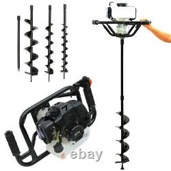Fence Petrol Earth Auger Post Hole Digger Borer with 3 Bits Drill Extension Pole