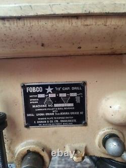Fobco Star Heavy Duty PILLAR Drill Made in England 240 V NO VAT