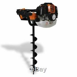Garen Petrol Earth Auger Ground Drill Fence Post Hole Borer Tree Planting 52cc