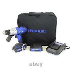 HYUNDAI Cordless Drill Driver 18V Combi Hammer Electric Screwdriver Lithium Ion