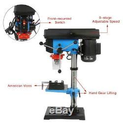 Heavy Duty 550w 16mm Rotary Pillar Drill 9 Speed Press Drilling Bench Press