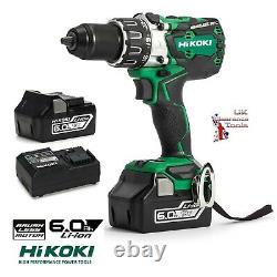 Hikoki DV18DBXL/JX 18v Li-ion Brushless Heavy Duty Combi Drill Kit With 2 x 6.0Ah