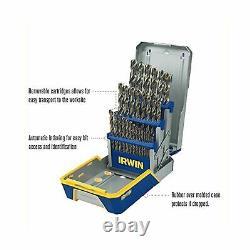 Irwin Drill Bit Set M35 Cobalt Metal Steel Heavy Duty Industrial 29 Pc 3018002