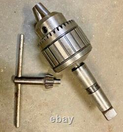 JACOBS USA No. 20N 1 Ball Bearing Super Drill Chuck MT 4 Morse Taper Heavy Duty