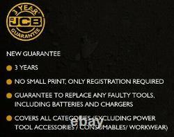 JCB 18BLCD 18V Brushless Combi Hammer Drill Metal Chuck 1x 2Ah + Dewalt 109 Set