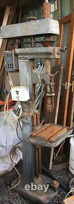 Large Heavy Duty Pillar Drill Floor Stand Industrial Corona Fred Pollard & Co