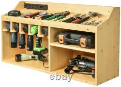 Large Power Tools Storage Organizer Cabinets Drill Charging Station Garage Shop