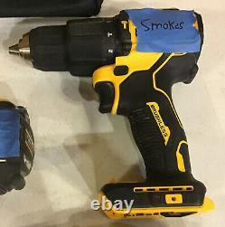 Lot of 5 For Parts Dewalt Drills Brushless Broken (See Tape)