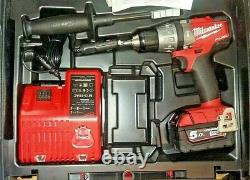 MILWAUKEE FUEL 18V M18FPD BRUSHLESS COMBI DRILL 1 X5.0Ah KIT WITH IN CAR CHARGER