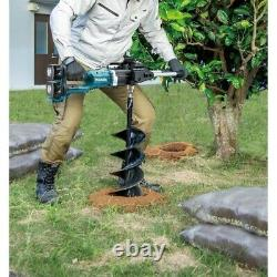 Makita DDG460ZX7 LXT Cordless 18v / 36v Brushless Earth Auger Fence Post Drill