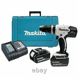 Makita DHP453SFEW 18V Combi Hammer Drill with 2 x 3.0Ah Batteries Charger & Case