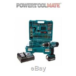 Makita DHP453SFTK 18v Combi with 1x3ah Battery and 101 Piece Accessory Set