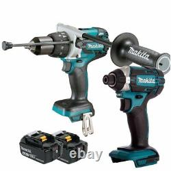 Makita DHP481Z 18V Combi Drill + DTD152Z Impact Driver with 2 x 4.0Ah Batteries