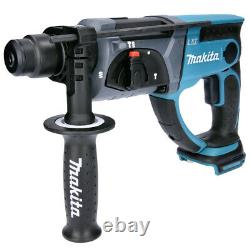 Makita DHR202 18V LXT SDS Plus Hammer Drill with 12 Piece SDS Drill Bit Set