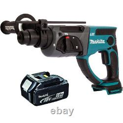 Makita DHR202Z 18V Cordless SDS Plus Rotary Hammer Drill with 1 x 5.0Ah Battery