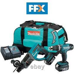Makita DLX2025 18v Combi Drill and Hammer Drill 2 x 3.0ah Li-ion