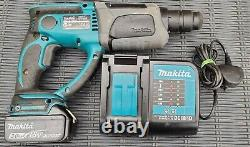 Makita Dhr202 3 Mode Sds Hammer Drill Chisel Function / Charger & 3.0ah Battery