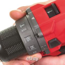Milwaukee 12v Fuel Brushless 2-speed Combi Drill M12fpd Body Only
