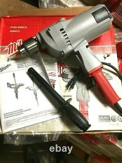 Milwaukee 1854-1 120 AC/DC 3/4-Inch Large Drill 350 RPM with Pipe Handle NEW